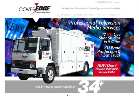 the CoverEdge HD Satellite truck