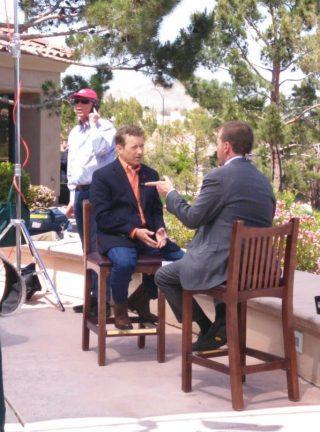 Makeup Artist in Las Vegas for TV News Media Interviews Chuck Todd Rand Paul